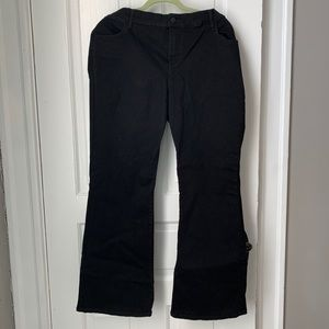 Black Old Navy Flare Jeans